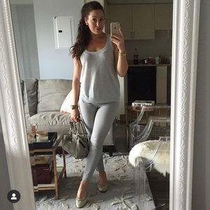 Light grey skinny jeans